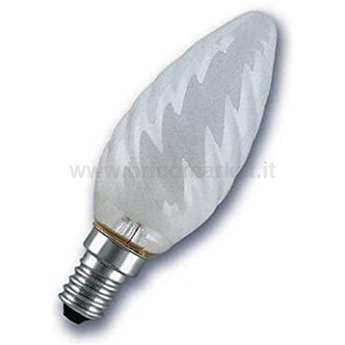 INCANTO SATEN LED CANDELA TORTIGLIONE 4W E14 3000K 470LM