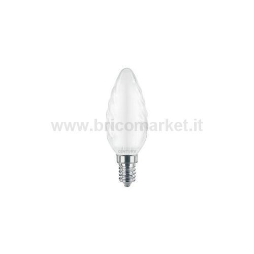 INCANTO SATEN LED CANDELA TORTIGLIONE 4W E14 6000K 470LM
