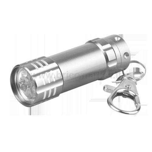 TORCIA LED PORTACHIAVI SILVER IN ALLUMINIO (BATTERIE 3XLR44 INCLUSE)