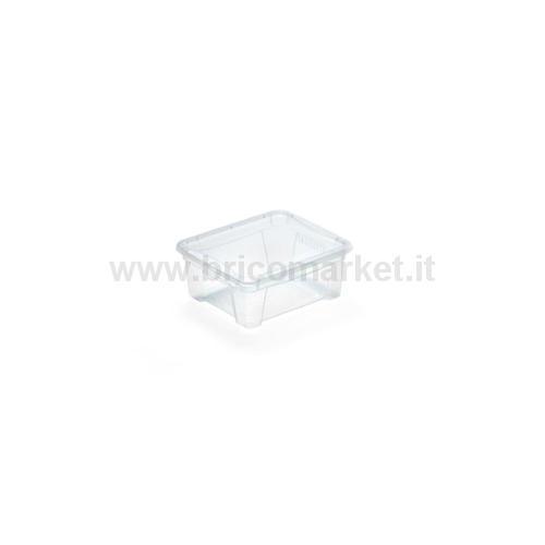 K BOX 1 - CONTENITORE TRASPARENTE C/COPERCHIO 0,9 L