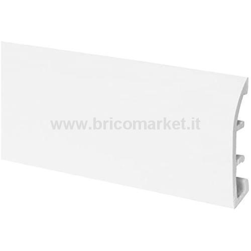 BATTISCOPA PVC CM. 7X1.2X250 BIANCO