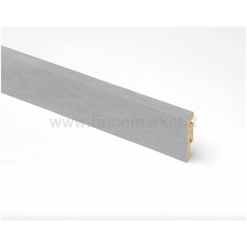 BATTISCOPA RETTANGOLARE MDF ALLUMINIO MM. 58X15X2400