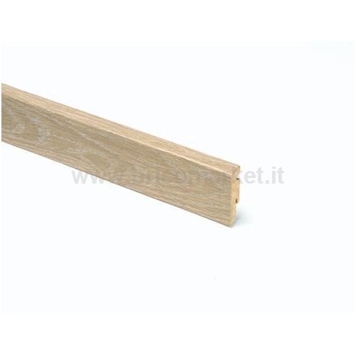 BATTISCOPA MDF ROVERE SBIANCATO RETTANGOLARE CM. 5.8X1.5X240