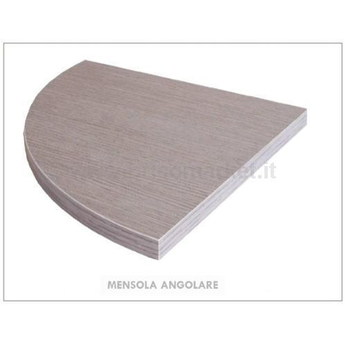 MENSOLA ANGOLARE ROVERE GRIGIO CM. 1.8X30X30
