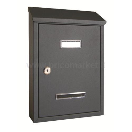 CASSETTA POSTALE ANTRACITE MM.350X230X80