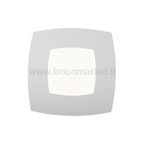 00086352 - PLAFONIERA BICE 24W 40X40CM BIANCA