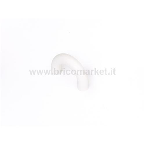MANIGLIETTA PLASTICA BIANCA MM.32
