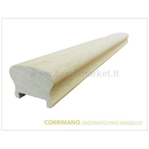 CORRIMANO PINO CM. 6.2X4.5X300 GREZZO