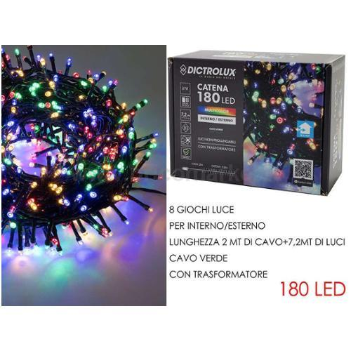 180 LUCI LED MULTICOLOR X ESTERNO PROG.