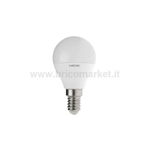 LAMPADA LED SFERA 6W E14 LUCE NATURALE 4000K