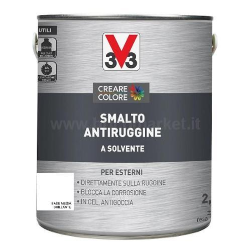 SMALTO ANTIRUGGINE LT 2,5 ASPETTO BRILLANTE BASE MEDIA