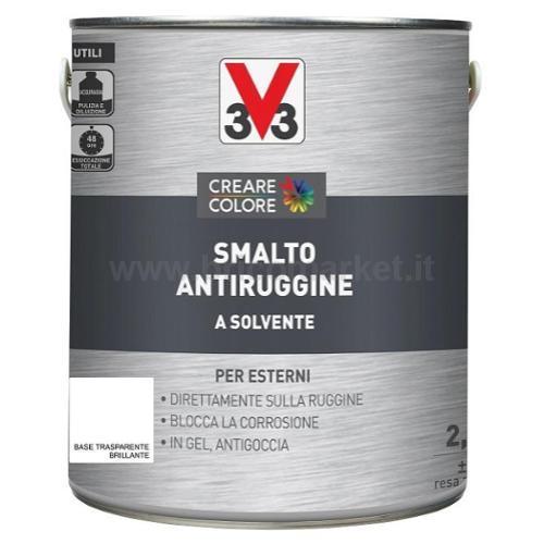 SMALTO ANTIRUGGINE LT 2.5 ASPETTO BRILLANTE BASE TRASPARENTE