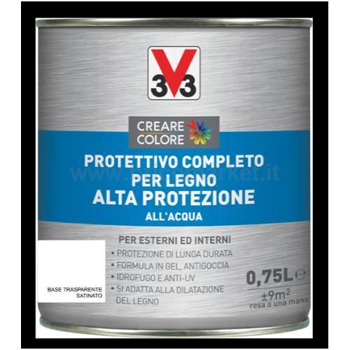 PROTETTIVO COMPLETO PER LEGNO ALTA PROTEZIONE ACQUA LT 0.75 ASPETTO SATINATO BASE TRASPARENTE