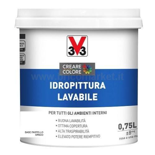 IDROPITTURA LAVABILE LT 0.75 ASPETTO OPACA BASE PASTELLO