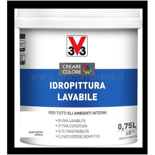 IDROPITTURA LAVABILE LT 0.75 ASPETTO OPACA BASE MEDIA