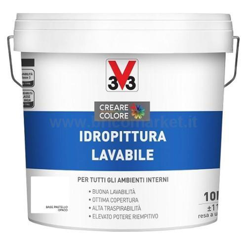 IDROPITTURA LAVABILE LT 10 ASPETTO OPACA BASE PASTELLO