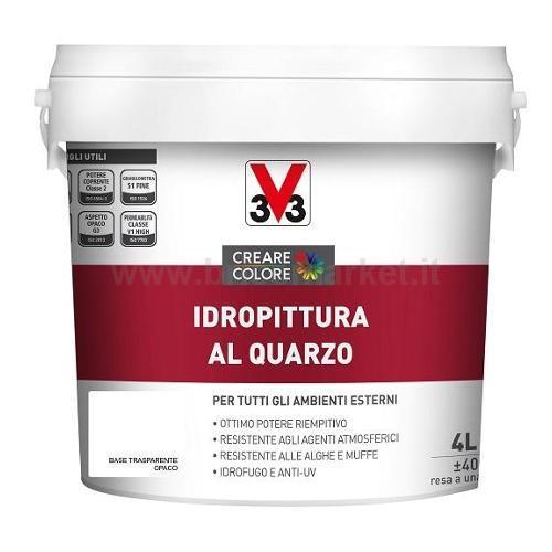 IDROPITTURA AL QUARZO LT 4 ASPETTO OPACA BASE TRASPARENTE