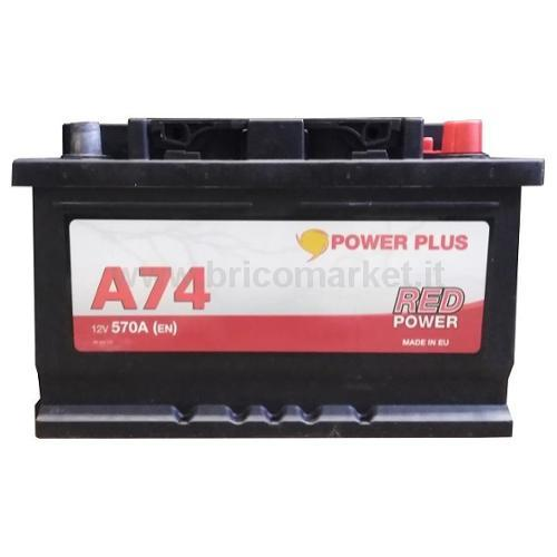 BATTERIA RED POWER 74 AH