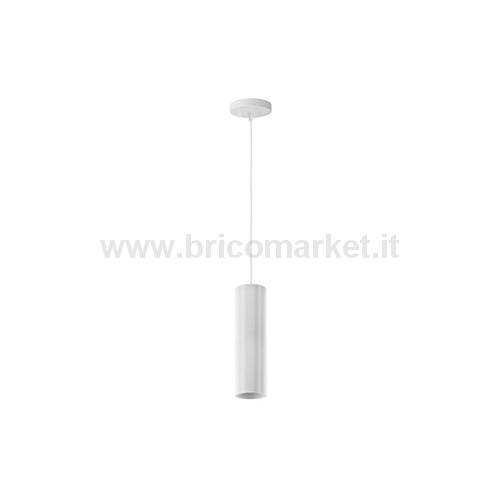 LAMPADA PENDENTE A CILINDRO BIANCO GU10