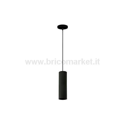 LAMPADA PENDENTE A CILINDRO NERO GU10