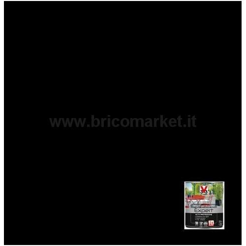 SMALTO ALTA PROTEZIONE PER FERRO ANTIRUGINE LT.0.5 NERO BRILLANTE RAL 9005