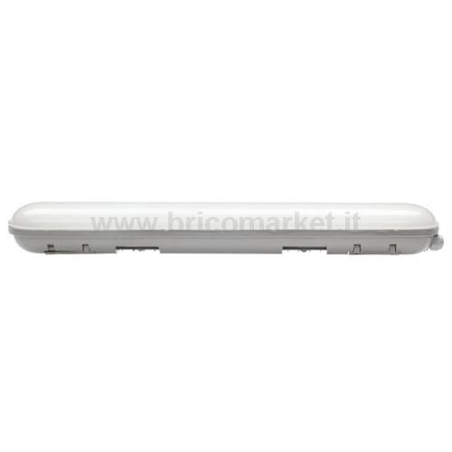 PLAFONIERA LED IN POLICARB. 28W - 600MM - 4000K - 2200LM - IP65 LUCE NATURALE