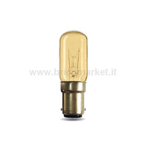 LAMPADA INCANDESCENZA 15W TUBOLARE CHIARA B15D