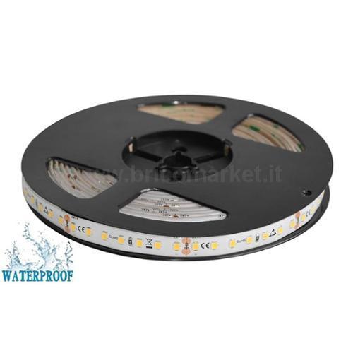 NASTRO LED 5MT - 126 LED/MT SMD2835 - 11W/MT - 24V - 3000K IP65 LUCE CALDA