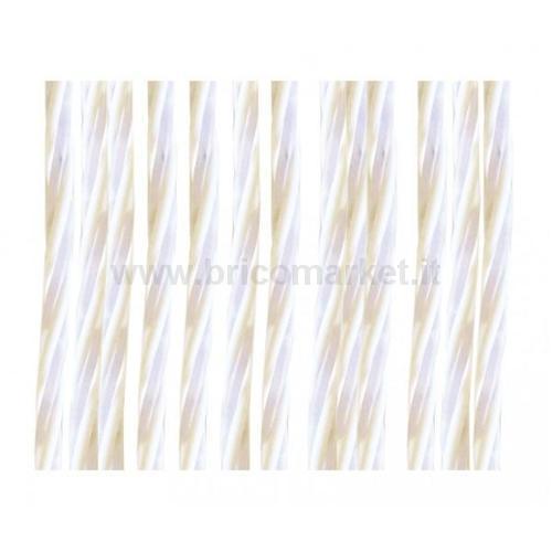 TENDA TRECCIA PVC TUCA CM. 100X220H BIANCO/GHIACCIO