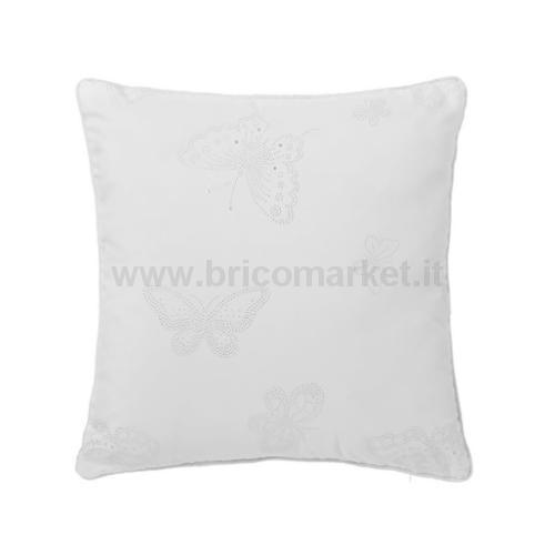 CUSCINO FLY 45X45 CM BIANCO IN POLIESTERE