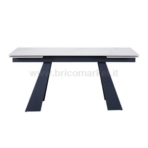 TAVOLO DALTON ALLUNGABILE 160/240X90X75H CM CON PIANO IN CERAMICA