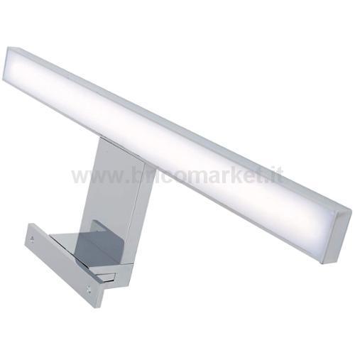 BRILO BATH LAMPADA LED SPECCHIO 30 CM CROMO 5W 4000K 500LM IP44