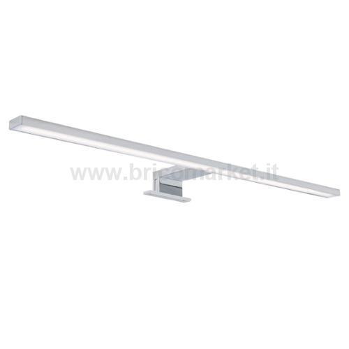 BRILO BATH LAMPADA LED SPECCHIO 60 CM CROMO 8W 4000K 780LM IP44
