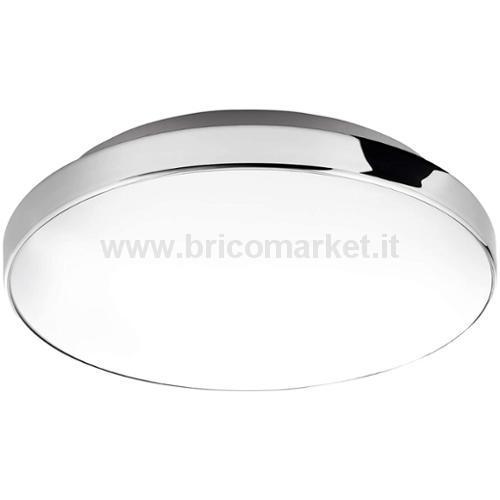 BRILO BATH PLAFONIERA LED 28.5 CM 13W CROMO/BIANCO IP44 1200LM