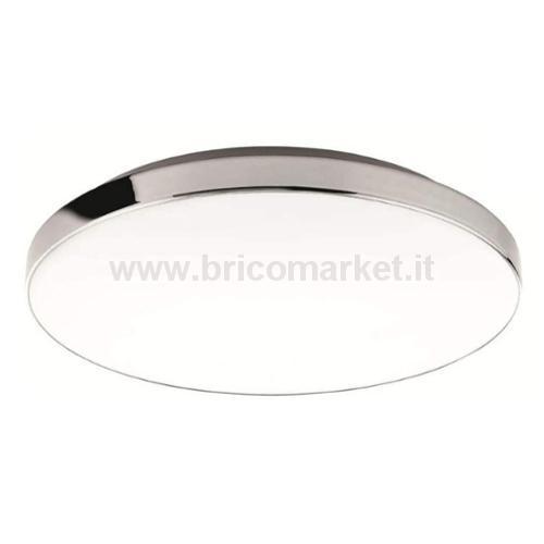 BRILO BATH PLAFONIERA LED 35.5 CM 18W CROMO/BIANCO IP44 1700LM