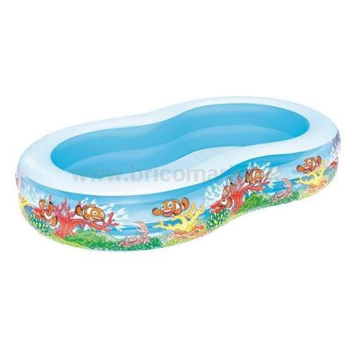 PISCINA FAMILY BARRIERA CORALLINA 262X157X46H CM FORMA A 8 A 2 ANELLI