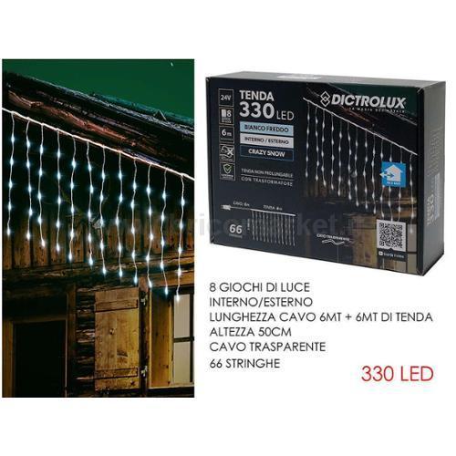 TENDA 6XH0.5M CON 330 LED GHIACCIO