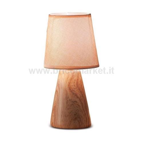 LAMPADA IN CERAMICA ROMY D13XH27.5CM IN 2 COLORI