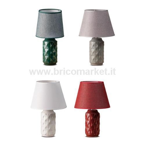 LAMPADA IN CERAMICA KAEL D38XH64CM IN 4 COLORI