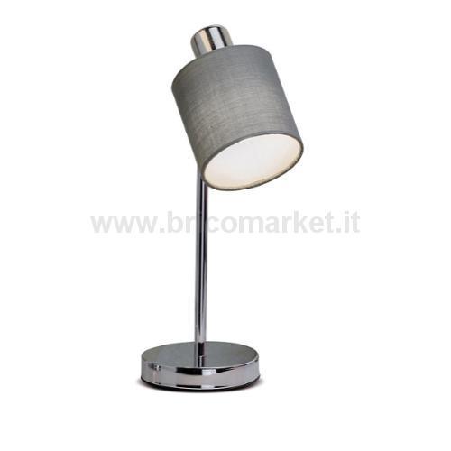 LAMPADA IN METALLO E TESSUTO VERA D10XH36CM IN 4 COLORI
