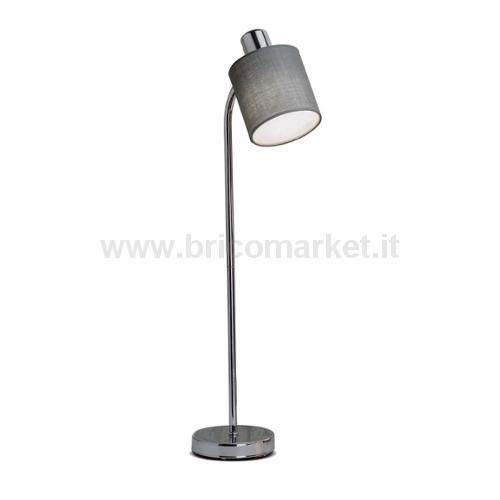 LAMPADA IN METALLO E TESSUTO VERA D10XH60CM IN 4 COLORI