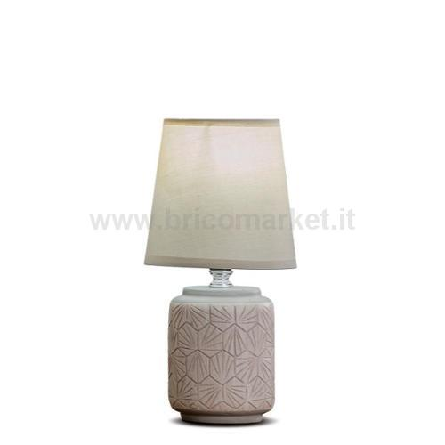 LAMPADA IN CERAMICA CARSON D13XH27CM IN 3 COLORI