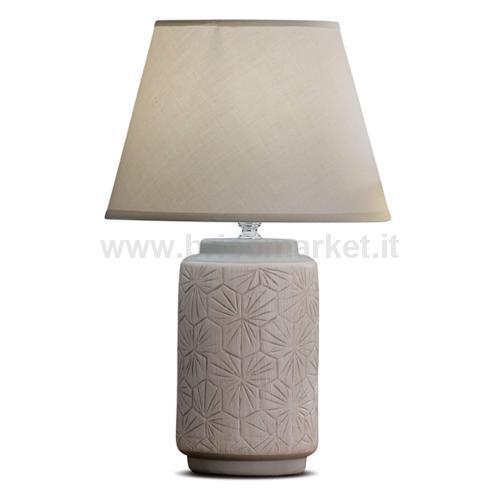 LAMPADA IN CERAMICA CARSON D25XH40CM IN 3 COLORI