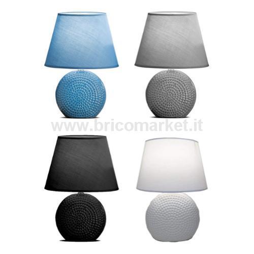 LAMPADA IN CERAMICA RACHEL D25XH36CM IN 4 COLORI