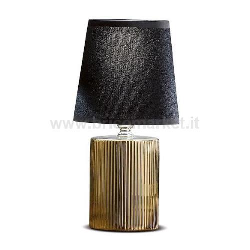 LAMPADA IN CERAMICA VEGAS D13XH27CM IN 2 COLORI