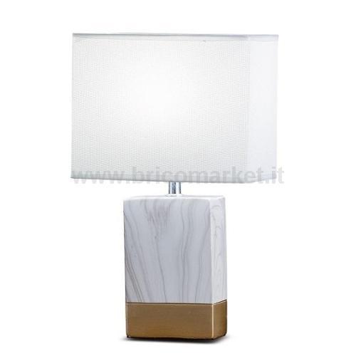 LAMPADA IN CERAMICA MARBLE 12X67XH39CM IN 2 COLORI