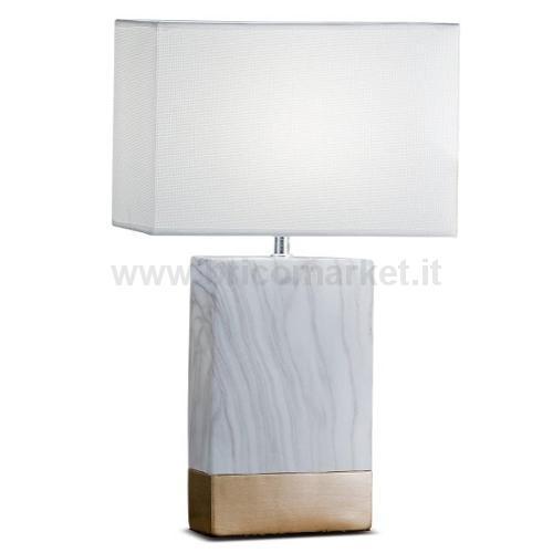 LAMPADA IN CERAMICA MARBLE 18X10XH55CM IN 2 COLORI