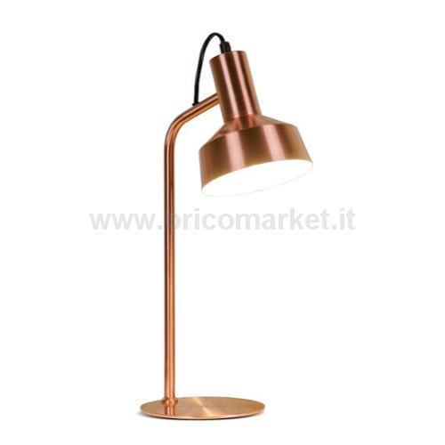 LAMPADA IN METALLO AZLA D15XH42CM IN 2 COLORI