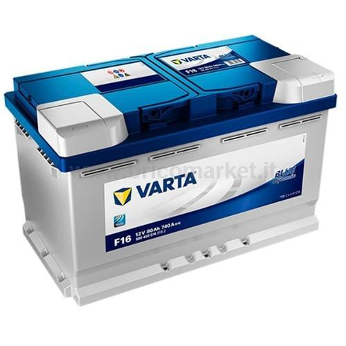 BATTERIA AUTO VARTA 80AH DX F16 BLUE DYNAMIC