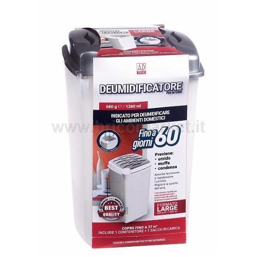 DEUMIDIFICATORE PER INTERNI 680GR/1360ML